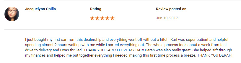 5-star Google review
