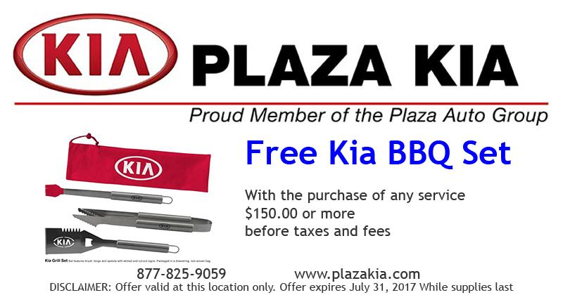 Free Kia BBQ Set Offer