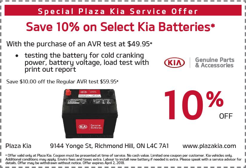 Kia Battery Special