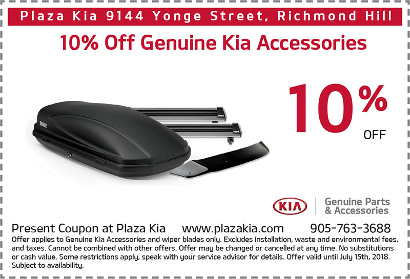 Kia Genuine Accessories Offer