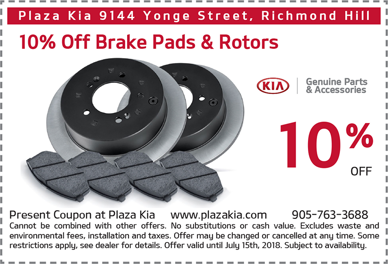 Brake Pads and Rotors Offer