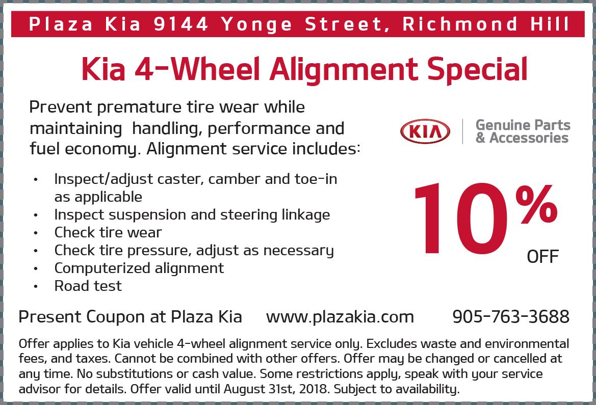 Kia 4 Wheel Alignment Offer