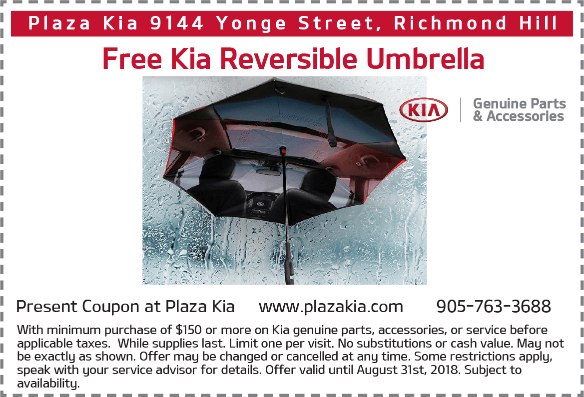 Free Kia Reversible Umbrella*