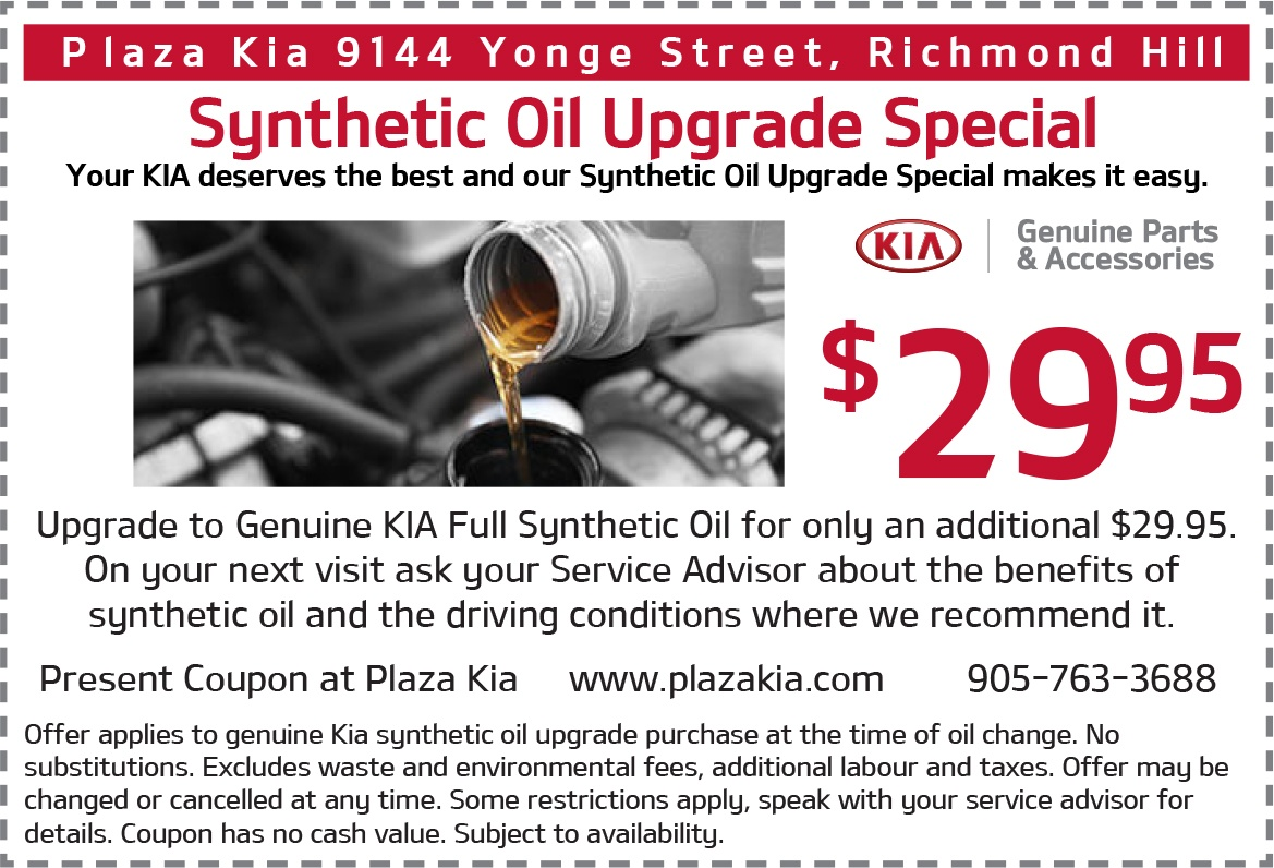 Synthetic Oil Upgrade Special