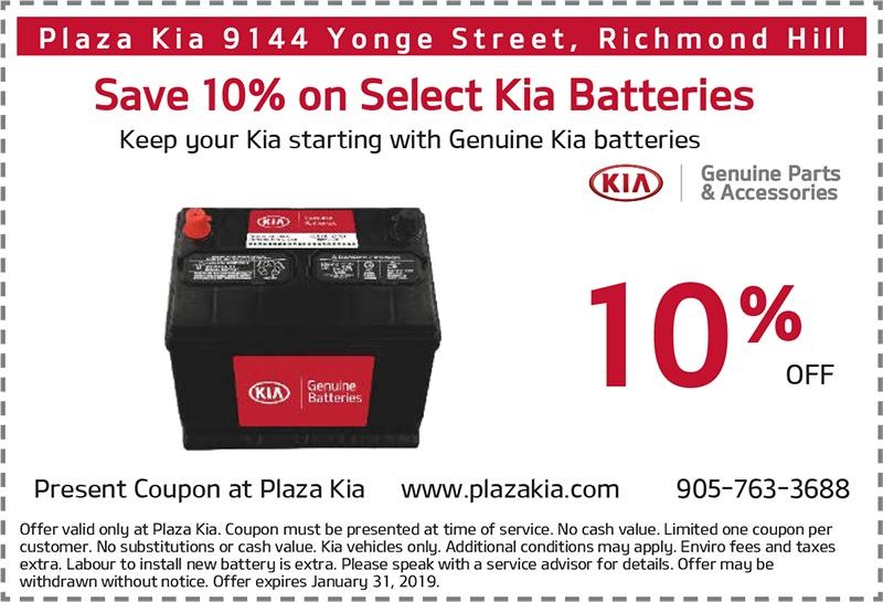 10% Off Genuine Kia Battery Purchase
