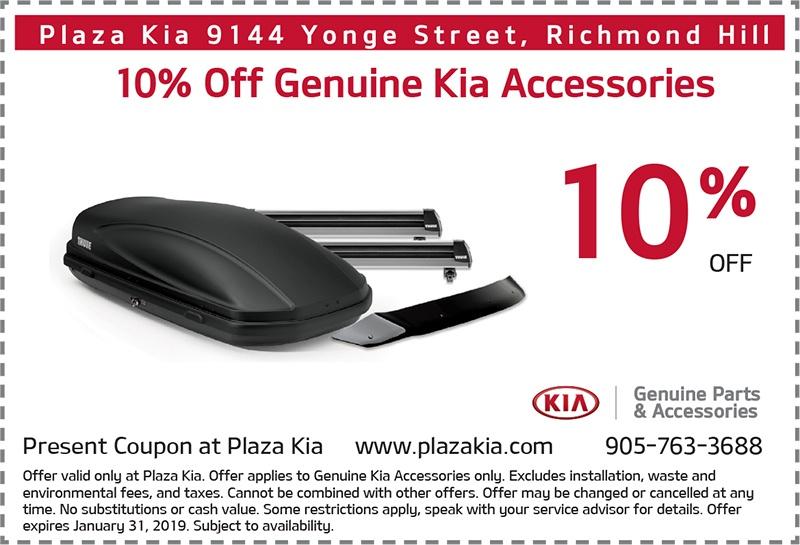 10% Off Genuine Kia Accessories